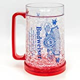 Silver Buffalo ANB2048T Budweiser Label Freezer Gel Plastic Mug, 16-oz, Multicolor
