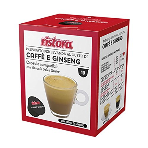 40 Cialde Capsule Compatibili Dolce Gusto Ristora Caffe' e Ginseng Originali