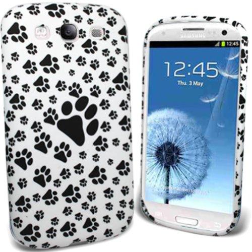 Mod Samsung GT-I9300Galaxy S3SIII Elegante Patas Foot Print impresión de Lujo Suave Silicona Funda Gel Carcasa Funda Piel + Protector de Pantalla
