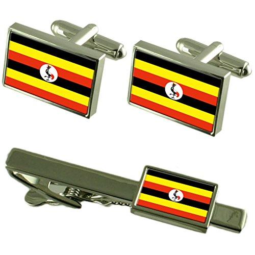 Select Gifts Uganda Fahne Manschettenknöpfe Krawatten passende Box Set