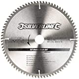 Silverline 244964 TCT Chapa Hoja 80T 250 30 X-25 , 20 , 16mm Anillos