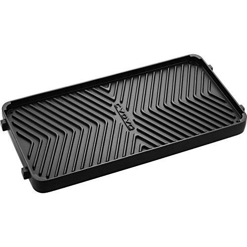 Cadac 98700–51Wendbare Grillplatte für Stratos Serie Grills, antihaftbeschichtet, schwarz
