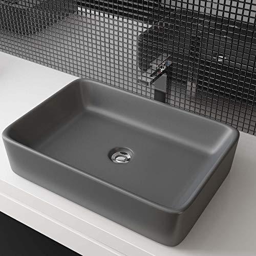 Waschbecken24 DESIGN KERAMIK WASCHTISCH AUFSATZWASCHBECKEN HANDWASCHBECKEN BAD GÄSTE WC TOP A97GAM