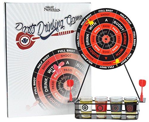 Fairly Odd Novelties Darts Fun Shots Trink-Party-Spiel, Einheitsgröße, Schwarz