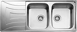 Teka 10120008 Stainless Steel Kitchen Sink with Double Bowl, Grey