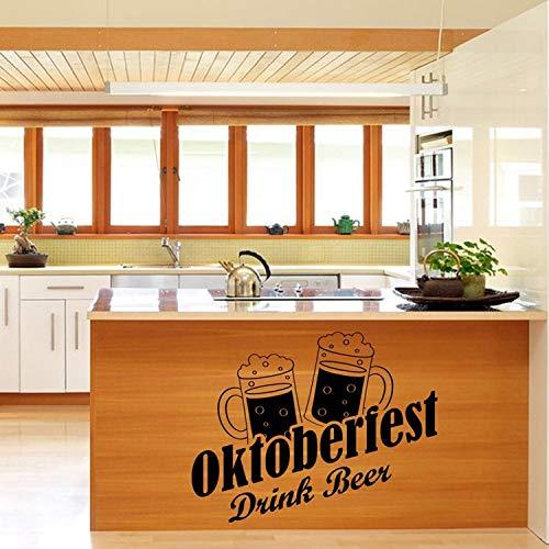 Moderne Bier Wasserdichte Küche Wandaufkleber Kunst Aufkleber Dekor Für Hauptdekoration Kühlschrank wandaufkleber Wandbild Tapete 54X43 cm