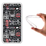 WoowCase ZTE Nubia Z11 Mini Hülle, Handyhülle Silikon für [ ZTE Nubia Z11 Mini ] London Symbole Handytasche Handy Cover Case Schutzhülle Flexible TPU - Transparent