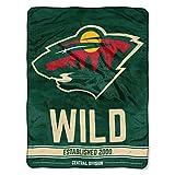 The Northwest Company NHL Minnesota Wild 'Break Away' Micro Raschel Throw Blanket, 46' x 60' , Green