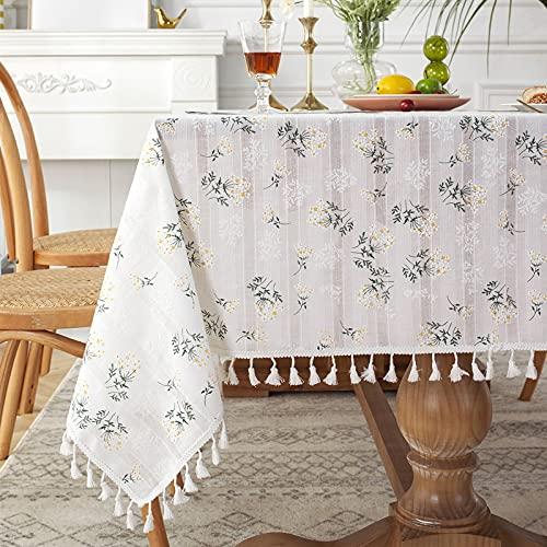 CYYyang Oilcloth Wipe Clean Tablecloth Idyllic small fresh lilac cotton jacquard