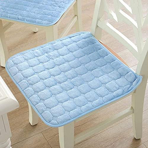 Cojín de felpa espesa para silla, cojín de piso de tatami, alfombra de piso de cojín de ventana de tatami mate, cojín de sofá de silla, para oficina, hogar, coche, asiento D 40x40cm (Color: B, Tamaño: