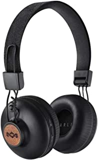 The House Of Marley Positive Vibration 2 Wireless, Auriculares inalámbricos con Bluetooth, con micrófono, 40 mm Diver, diseño cómodo en la Oreja, Plegable, Negro, 21,9 x 20,7 x 9,5