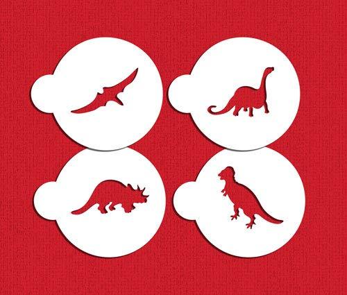 Designer Stencils C1048 - Juego de plantillas para galletas de dinosaurio