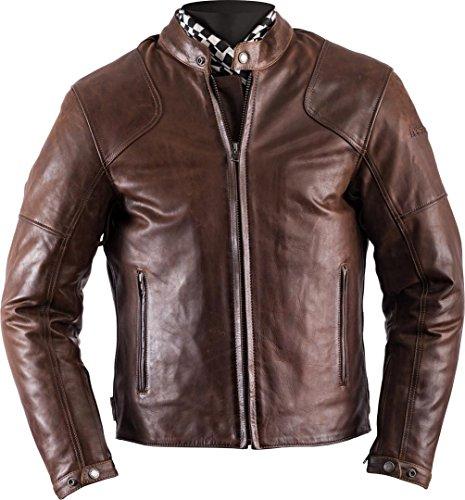 Helstons Motorradjacke mit Protektoren Motorrad Jacke Heat Lederjacke braun 4XL, Herren, Chopper/Cruiser, Ganzjährig
