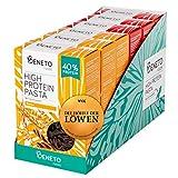Beneto's High Protein Pasta | Insektenpasta aus Grillenmehl | Löwendeal | 40% Protein | Natur & Tomate | 6x 200g