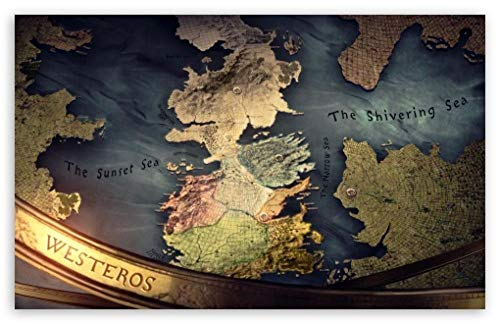 Puzzle 1000 Piezas,Mapa De Westeros para Adultos NiñOs, Educational Game para Aliviar EstréS Juego Intelectual, Navidad Juguete De Regalo Ideal 75x50CM