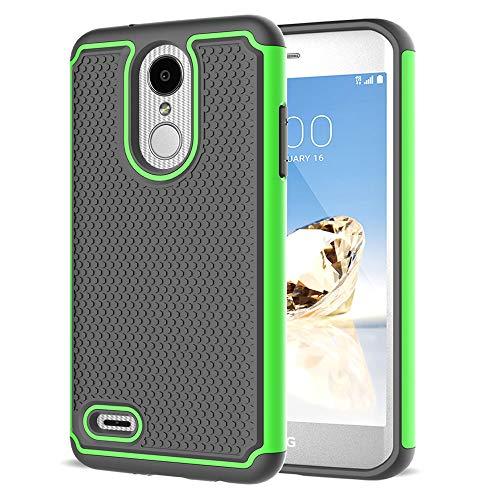 LEXNEC Case for LG Aristo 3/LG Aristo 2/Aristo 2 Plus/LG Tribute Dynasty/Zone 4/Fortune 2/LG K8 2018/LG K8+/Risio 3/LG Rebel 4 LTE/Rebel 3/K8 Plus/K8 Shockproof Protective Phone Case Cover - Green