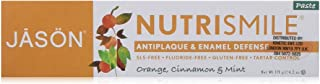 JASON Nutrismile Enamel Defense Fluoride-Free Toothpaste, Orange Cinnamon & Mint, 4.2 oz. (Packaging May Vary)