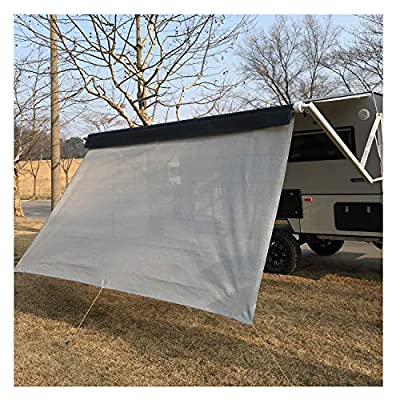 RV Awning Privacy Sun Shade Screen Complete Kits with UV Block (Gray)
