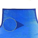WaiMin Lona piscina cubierta solar de la burbuja tinas calientes de lujo piscina, cubierta solar térmica for el capítulo sobre las piscinas - Azul (Size : 3X6m)