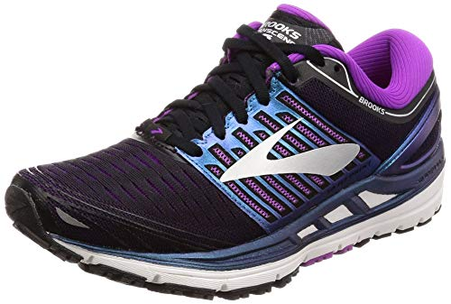 Brooks Women's Transcend 5 Road Running Shoes Black/Purple/Multi - 8B