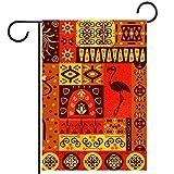 Bandera de jardín de casa de doble caraDecoración exterior de patio de primavera verano 12x18inch,patrón de áfrica