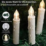 30er LED Weihnachtskerzen Kabellos, Warmweiß Christbaumkerzen Kabellos, led kerzen weihnachtsbaum, IP64, für Weihnachtsbaum, Weihnachtsdeko. mit Batterie Fernbedienung, LED Lichterkette Kerzen. - 5