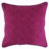 Nimsay Home Menaal - Funda de cojín cuadrada para sofá de cama (polialgodón, 45,7 x 45,7 cm)