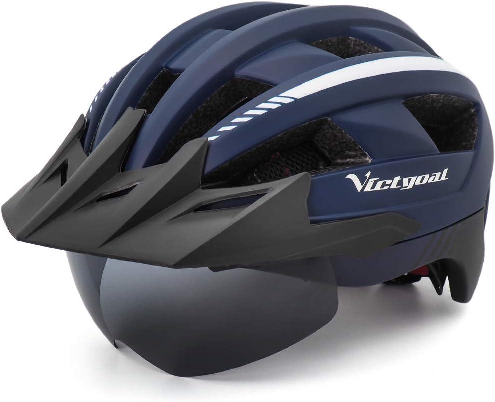 51d4SftVmpL. AC SL1000  - VICTGOAL Fahrradhelm MTB Mountainbike Helm mit abnehmbarem magnetischem Visier Abnehmbarer Sonnenschutzkappe und LED Rücklicht Radhelm Rennradhelm...