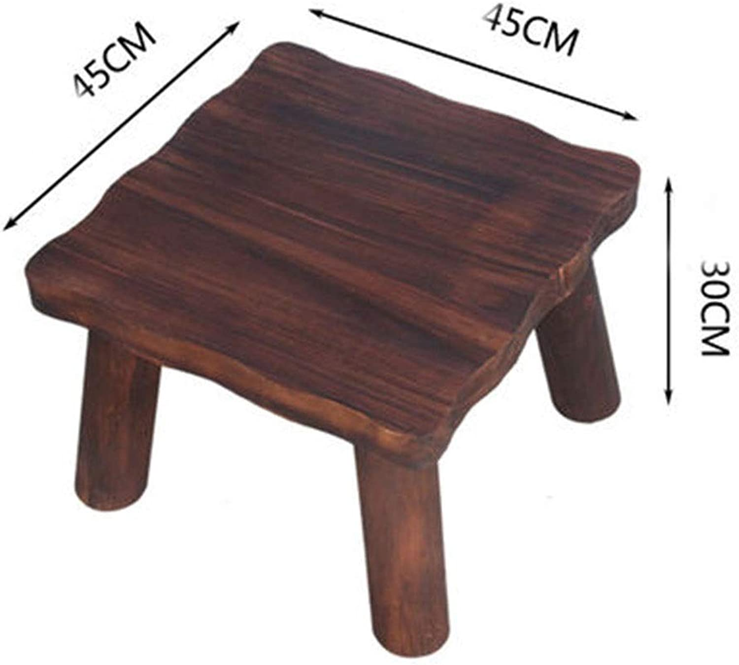 B.YDCM Wooden Bench- Home Stool Coffee Table Low Stool Square Thick Small Bench Anti-Corrosion Wooden Square Stool Adult Wood - Wood Bench (color   D)