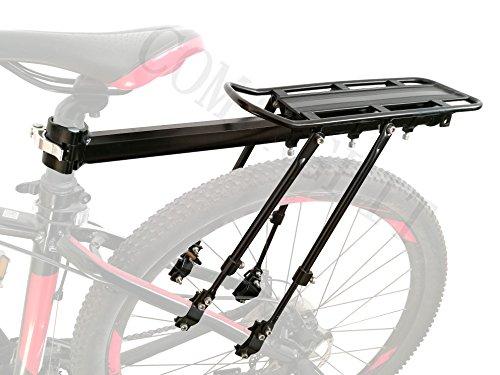 COMINGFIT 4-Strong-Legs Portapacchi posteriore regolabile per biciclette, Bici regolabile capacità 75kg