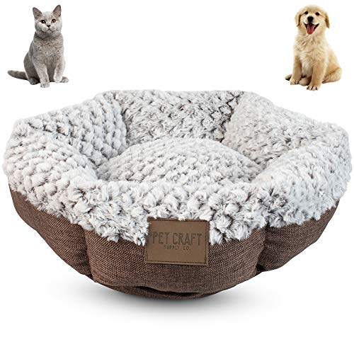 Pet Craft Supply Co. Round Cat Bed Brown