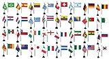 Flaggenfritze® Tischfahnen Komplettset WM 2014 - alle 32 Nationen, Größe 10 x 15 cm