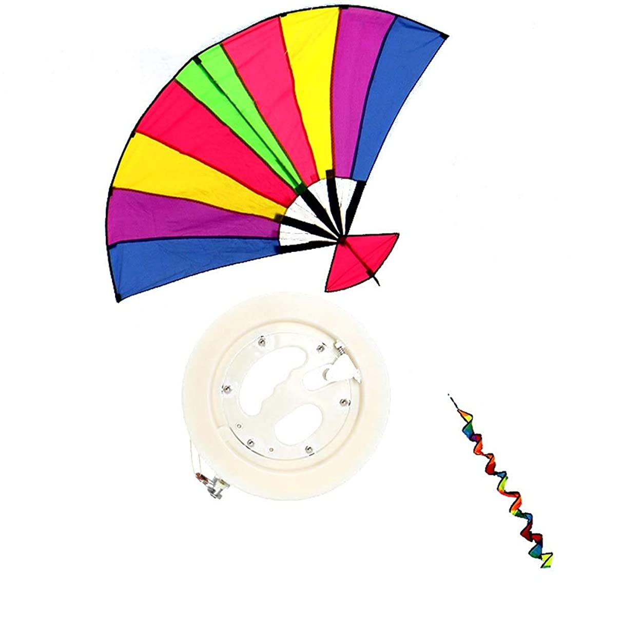 Kite,Flying Spring Toy Beginner Large-Scale Umbrella Cloth Kite, Foldable and Easy to Fly (for Adults) Kite line Wheel Puller Multi-Style Optional (Color : E)