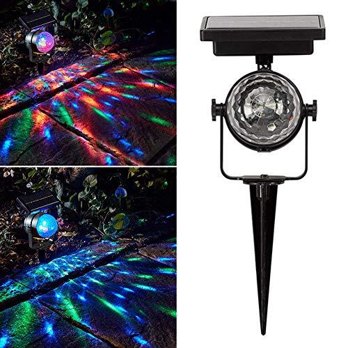 Sukisuki Projecteur Solaire d'extérieur à LED pour pelouse, Jardin, Carnaval, Jardin, terrasse, Cour Multicolore