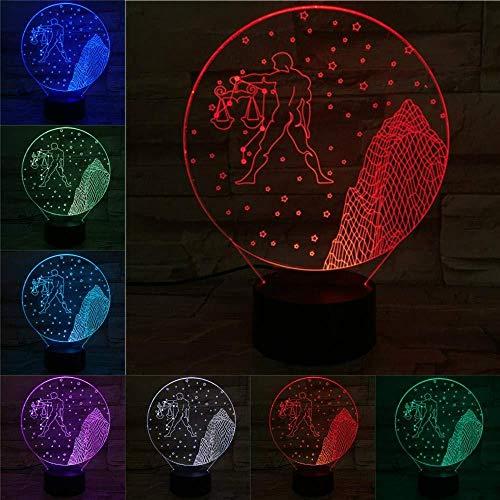 3D LED weegschaal nachtlicht wijzerlichten kinderen multicolor flash faded rekwisieten Guardian God Venus kerstcadeau