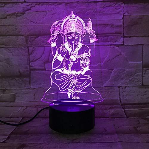 India interruptor táctil de luz 3D LED que cambia de color luz decoración de escritorio de oficina en casa anime fans regalos