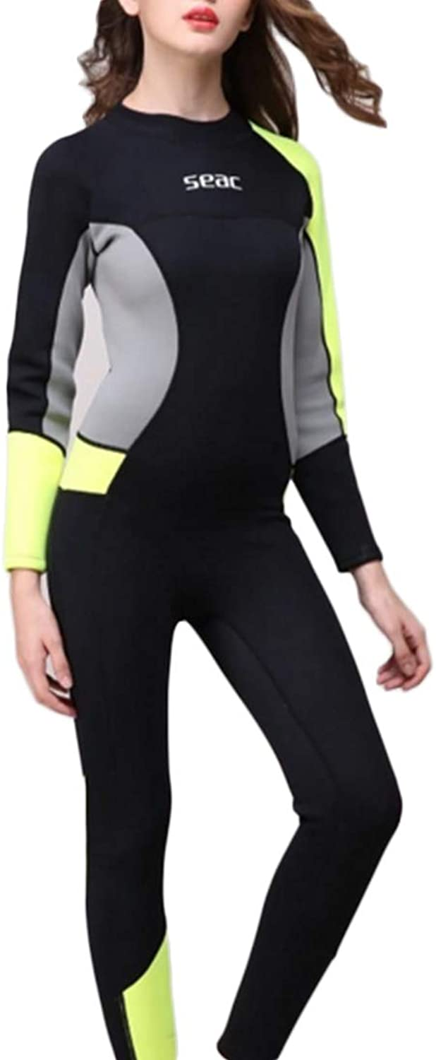 KERVINJESSIE Wetsuit Women's 3mm Water Sports Diving Clothes Sunscreen Clothes Heat Insulation Linked Design Long Sleeve
