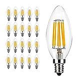 20 x E14 C35 6W Ampoule de Filament LED,Equivalent à lampe halogène 60W, 600...