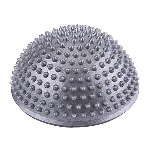 VGEBY1 Bola del Masaje del pie, Punto Inflable del Equilibrio del Equilibrio de la Bola del Masaje de la Media Bola de la Yoga para el Ejercicio del Gimnasio(Plata)