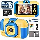SUZIYO Kids Camera, Digital Video Camcorder Dual Lens 1080P 2.4 Inch HD,Best Birthday Electronic...