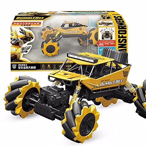 YUIOP Trànsfōrmérs Coche Júgúete Robot Car, Coche Teledirigido del Truco del Juguete de RC para el Regalo de los Niños de 6-12 Años, Abejorro del Camión Giratorio del Lado Doble 360 °