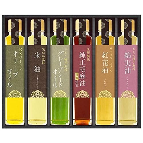 信濃屋清風堂 料理油 詰合せ SOL-50 6種 食用油 オリーブオイル 米油 純正ごま油 岐阜