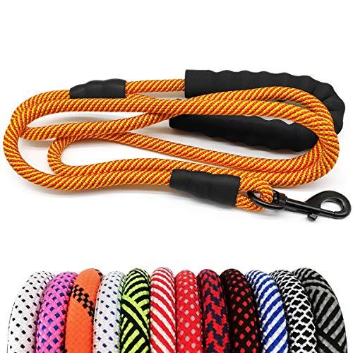 MayPaw Hundeleine aus robustem Seil, 1,3 cm x 1,8 m, Nylon, weich gepolsterter Griff, Dicke Leine für große und mittelgroße Hunde