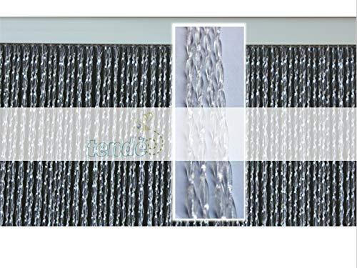 Cirillo Tende PVC-Türvorhänge Modell Roma-Aluminiumträger-Made in Italy-Eichmaß (95X200/100X220/120X230/130X240/150X250)-Fliegenvorhang-Kunststoff-Vorhänge (90X200, TRASPARENTE N.2)