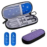 Yarwo Insulin Cooler Travel Case, Diabetic Medication Organzier with 2 Ice Packs for Insulin Pens and Other Diabetic Supplies, Purple