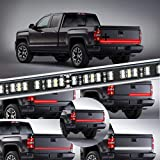 KUFUNG LED Truck Tailgate Light Bar Strip, 2 Row 60 Inch Waterproof Red White Reverse Brake Lights, Turn Signal Running for Truck, SUV, RV, Trailer, Accessories for Ford, Chevy, Dodge, GMC, Toyota
