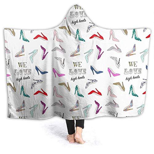 WH-CLA Blanket Tacones Altos Sudadera con Capucha De Colores Cozy Home Car Ligero Todo El Año Durable Sofá De Lujo Manta De Tiro Invierno Cálido Cama Suave Sala De Estar Manta De Lana Gr