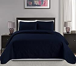 Mk Collection Over Size Diamond Bedspread Bed-Cover Embossed