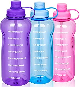 64oz Motivational Water Bottle with Time Marker (various colors)