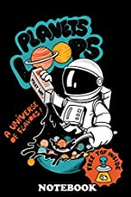 Notebook: Funny Cereal Planets Loop Inspired By Space , Journal for Writing, College Ruled Size 6